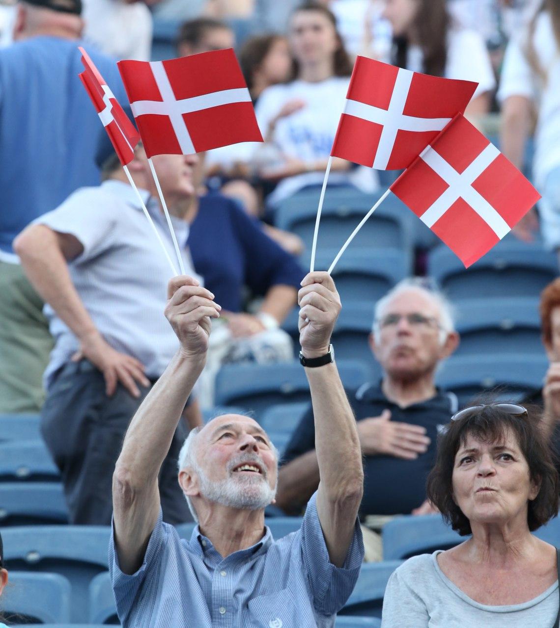 Danish supporters (Photo: Oren Aharoni)