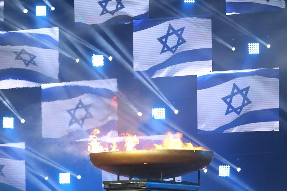 אש המכביה הודלקה (צילום: אורן אהרוני)