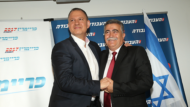 Margalit (L) and Peretz (Photo: Yariv Katz) (Photo: Yariv Katz)