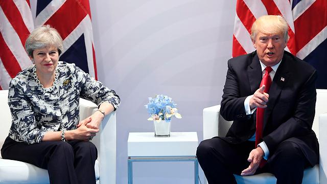 טראמפ ומיי בפגישה מצומצמת. הפעם זה לא יקרה (צלום: AFP) (צלום: AFP)