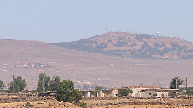 An IDF border base as seen from Syria (Photo: Reuters)