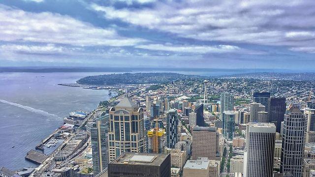 """סיאטל ממגדל קולומביה. ניו יורק של צפון מערב ארה""""ב (צילום: דני שדה)"""