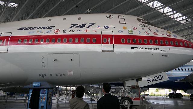 בואינג 747 במוזיאון התעופה. גם לוגו אל על שם (צילום: דני שדה)