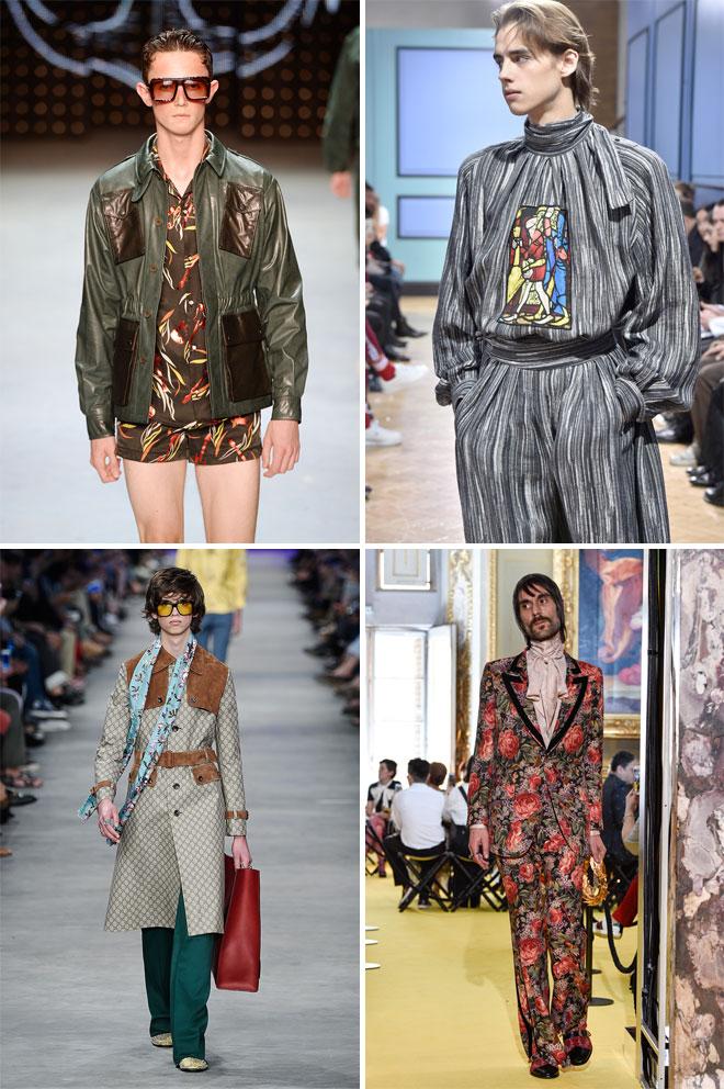 דוגמנים שנראים כמו דוגמניות שנראות כמו דוגמנים - לובשים בגדים שלא נראים כמו שום דבר. טופמן, ג'יי וו אנדרסון וגוצ'י (צילום: Gettyimages)