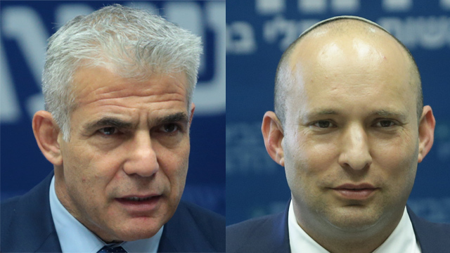 Yair Lapid (L) and Naftali Bennett (Photo: Alex Kolomoisky)
