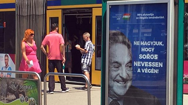 Anti-Soros campaign in Hungary. Anti-Semitism directed at people who oppose Netanyahu's policy is apparently legitimate (Photo: Reuters) (Photo: Reuters)