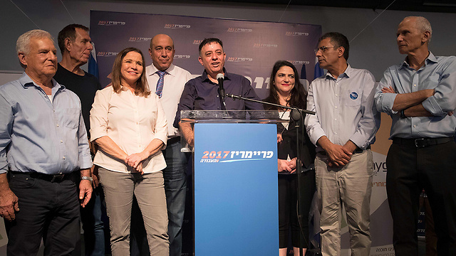 Gabbay is a pure capitalist, yet Shelly Yachimovich and others stood by his side because, in spite of everything, the Labor Party wants to live (Photo: AFP)
