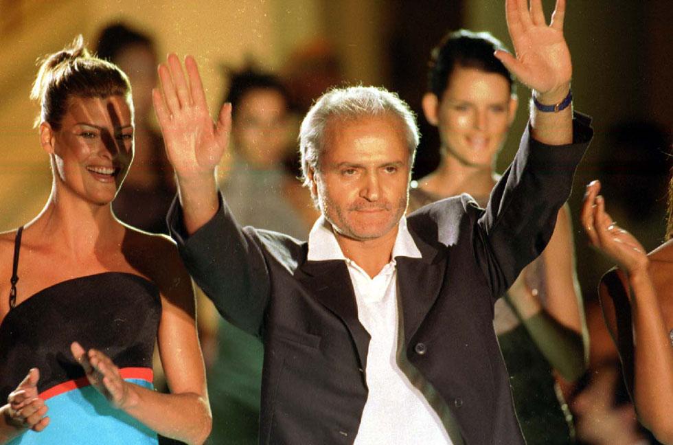 ג'יאני ורסאצ'ה, 1996. המניע לרצח המפורסם נותר פתוח לפרשנויות (צילום: rex/asap creative)