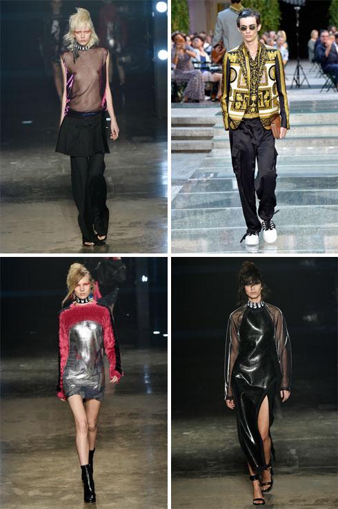 תצוגות האופנה של ורסאצ'ה הן עדיין ספקטקל מרהיב, עם דוגמניות על וסלבס כמו לני קרביץ בשורה הראשונה, ובגדים שנמכרים בהצלחה בשוק הסיני והרוסי (צילום: Gettyimages)