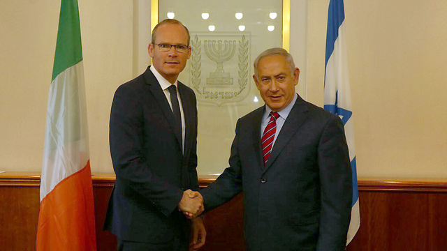 PM Netanyahu and Irish Foreign Minister Simon Coveney
