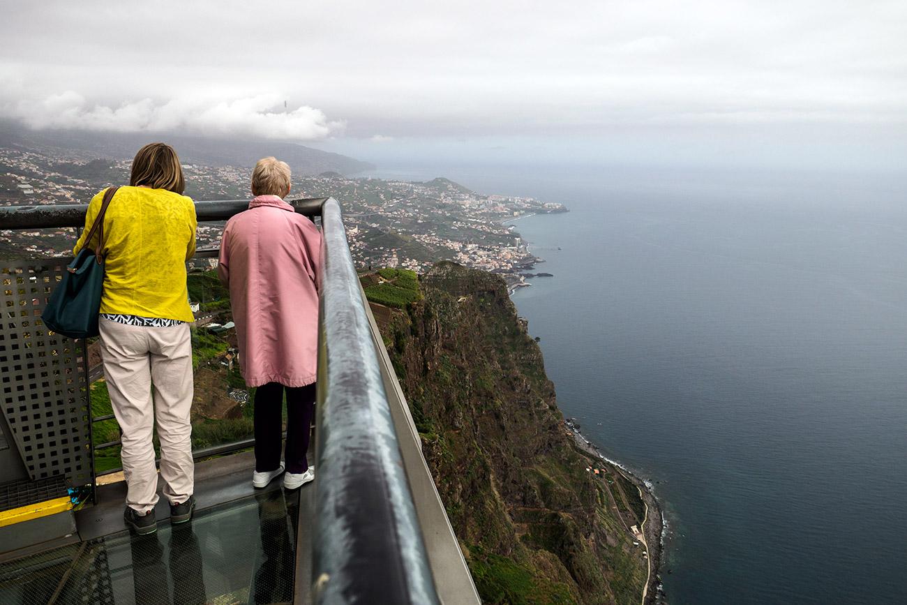 הצוק הגבוה באי ובכל אירופה: Cabo Girao (צילום: ליאור קורן)