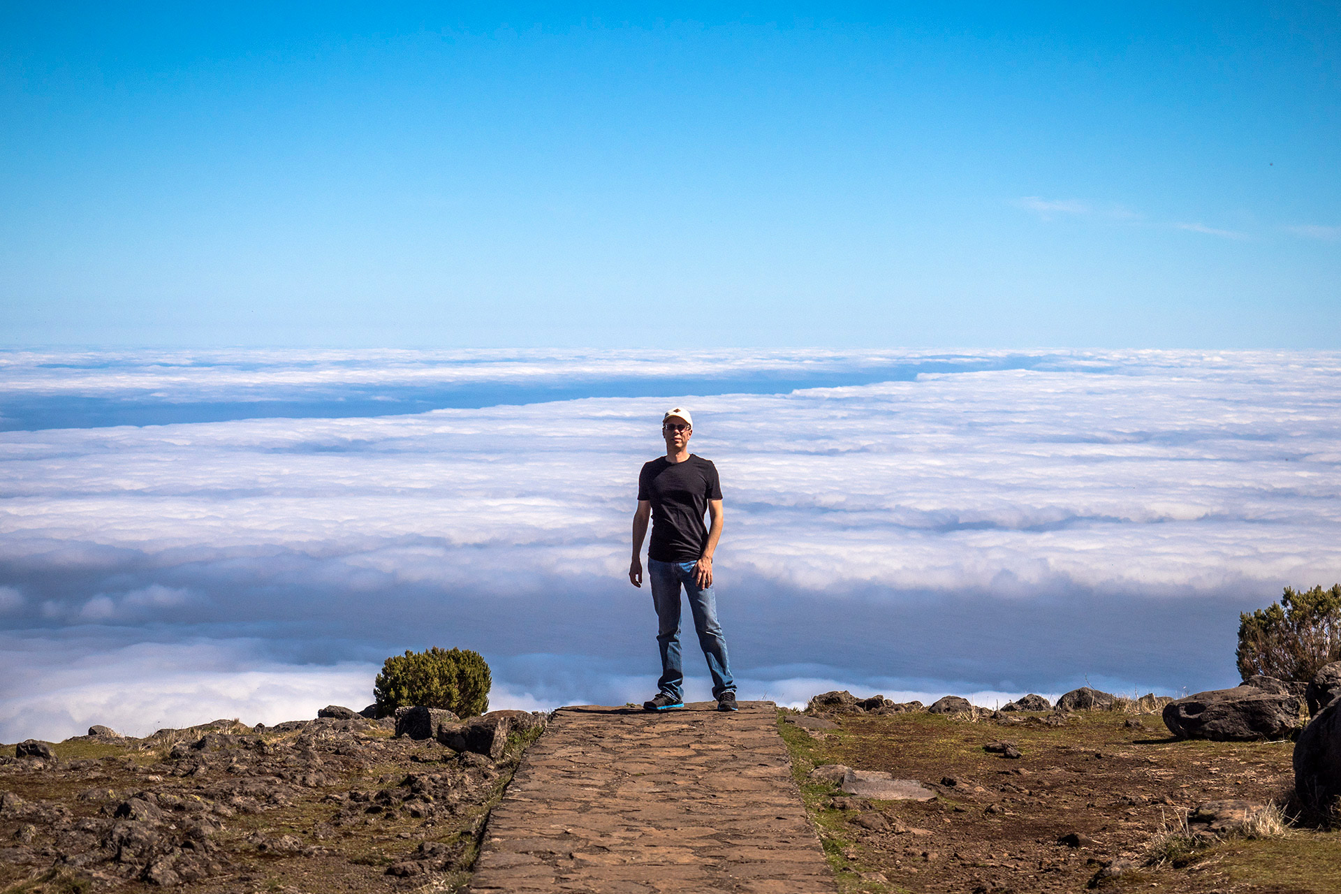 מעל העננים בהר הגבוה באי (צילום: ליאור קורן)