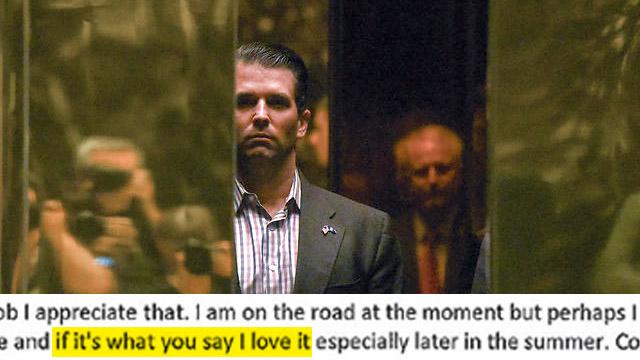 Trump Jr. responds to Goldstone (Photo: Reuters)
