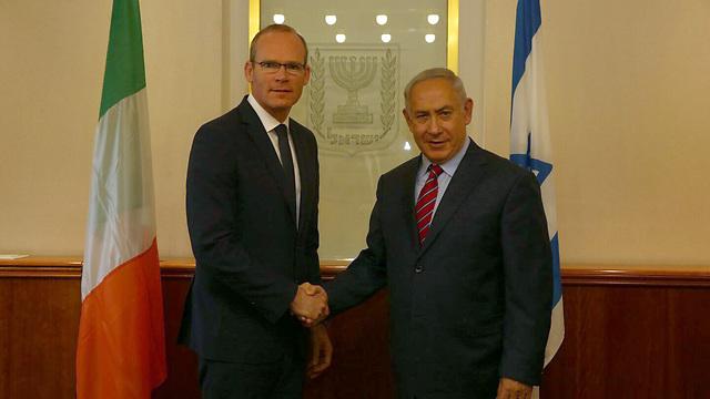 PM Benjamin Netanyahu and Irish FM Simon Coveney (Haim Zach/GPO)
