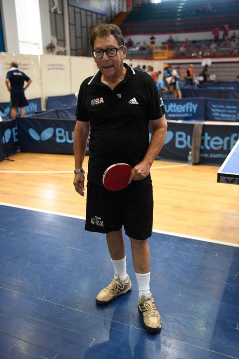 ויצמן הגיע ארצה עם נבחרת טניס השולחן של ארצות הברית, ענף בו הוא מתחרה במקצועיות מזה 15 שנה (צילום: עמית שיסל)