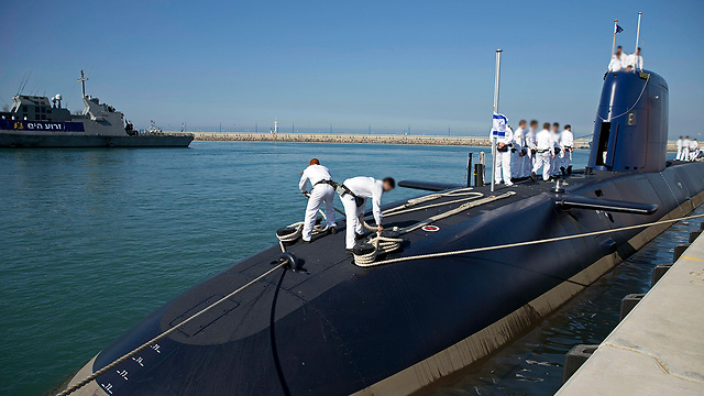 The Israel Navy's INS Rahav submarine (Photo: AP)