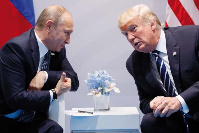Встреча Владимира Путина и Дональда Трампа в Гамбурге. Фото: Evan Vucci