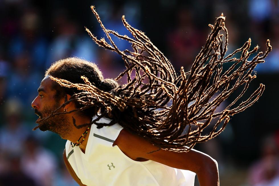 זכה לכינוי בוב מארלי של הטניס. דסטין בראון   (צילום: Gettyimages)