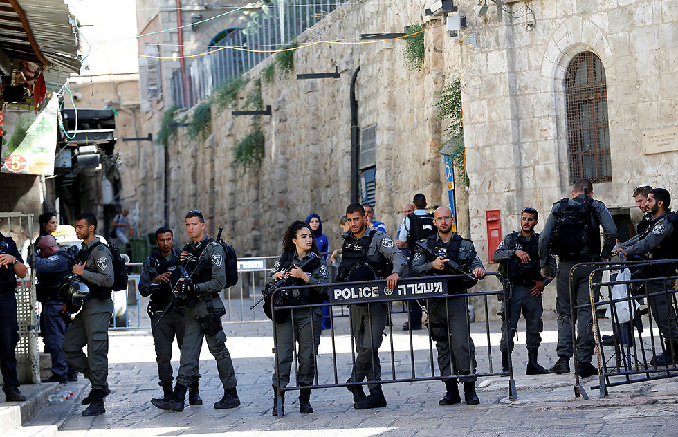 Security forces in Jerusalem's Old City following Friday's attack at the Lion's Gate (Photo: Reuters)