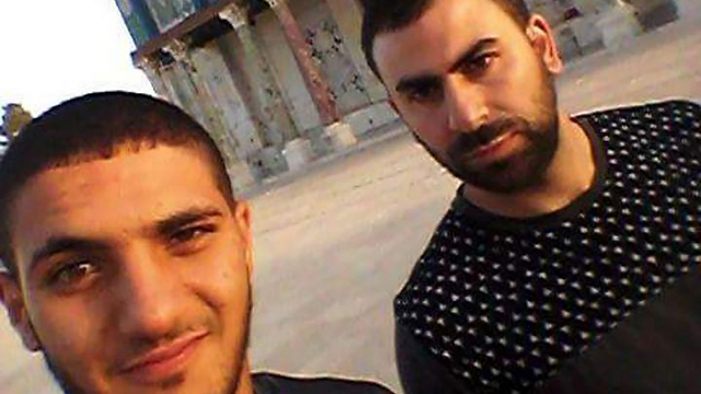 Two of the terrorists on the Temple Mount