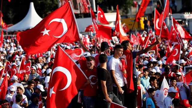 הפגנה בטורקיה. שיעור האבטלה בקרב הנוער הגיע ל-26.7% (צילום: רויטרס) (צילום: רויטרס)