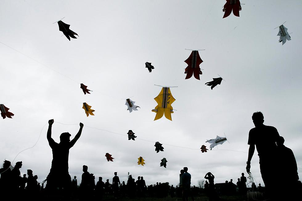 אינדונזיה: פסטיבל עפיפונים בסאנור, באלי (צילום: EPA)