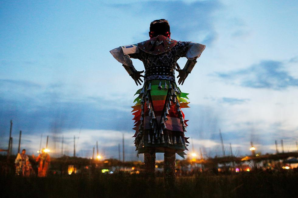"""תחרות ריקודים אינדיאניים בטאוס פואבלו, ניו מכסיקו בארה""""ב (צילום: רויטרס)"""