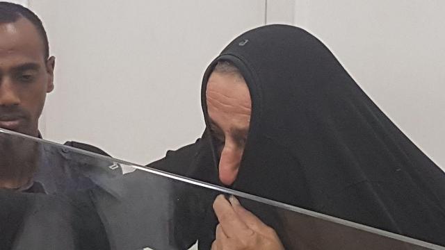 סאמי קרא, שנאשם ברצח בתו, היום בבית המשפט (צילום: גלעד מורג) (צילום: גלעד מורג)