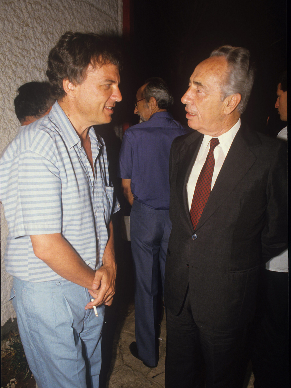 דוד שיץ עם שמעון פרס. 1987