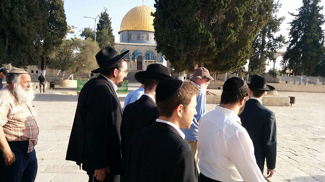 Jewish visitors to the Temple Mount