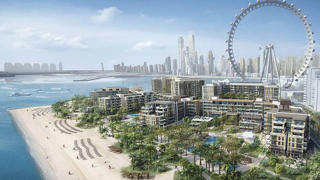 """""""עין דובאי"""" מוקם על אי מלאכותי, כ-500 מטרים מהחוף (צילום: Dubai Media)"""