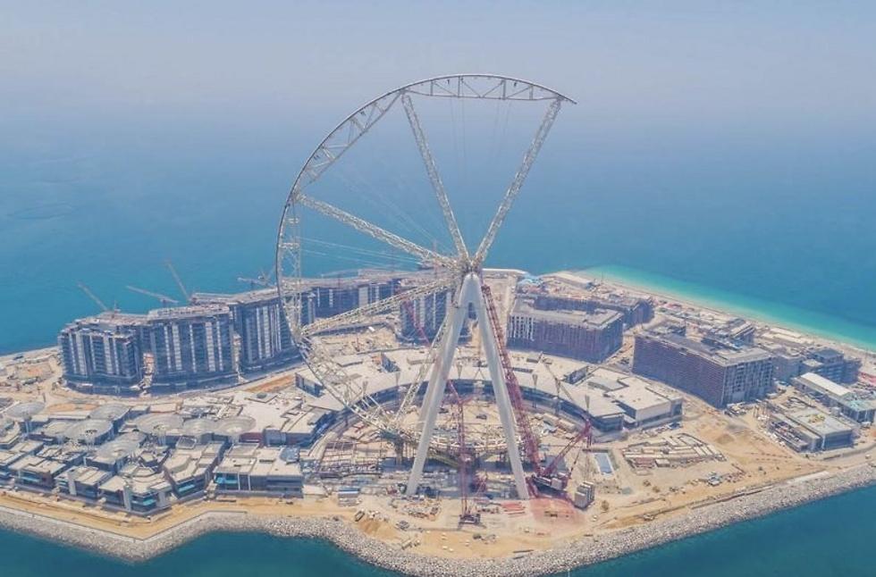 כמעט מוכן. הגלגל בדובאי (צילום: Dubai Media)