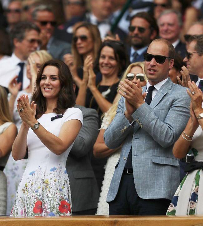 ידענו שתנצח! הנסיך וויליאם וקייט מידלטון מעודדים  (צילום: Gettyimages)