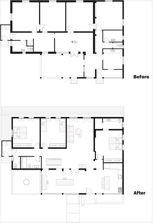 התוכניות לפני ואחרי השיפוץ (תוכנית: סטודיו 826)