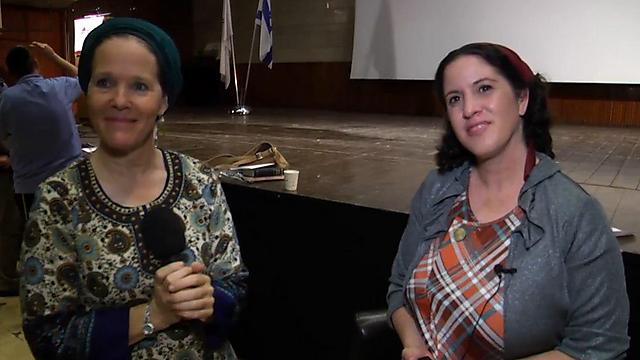 הרבנית רחלי פרנקל ויפעת ארליך. חבקוק ואנחנו (צילום: גבי ניומן) (צילום: גבי ניומן)