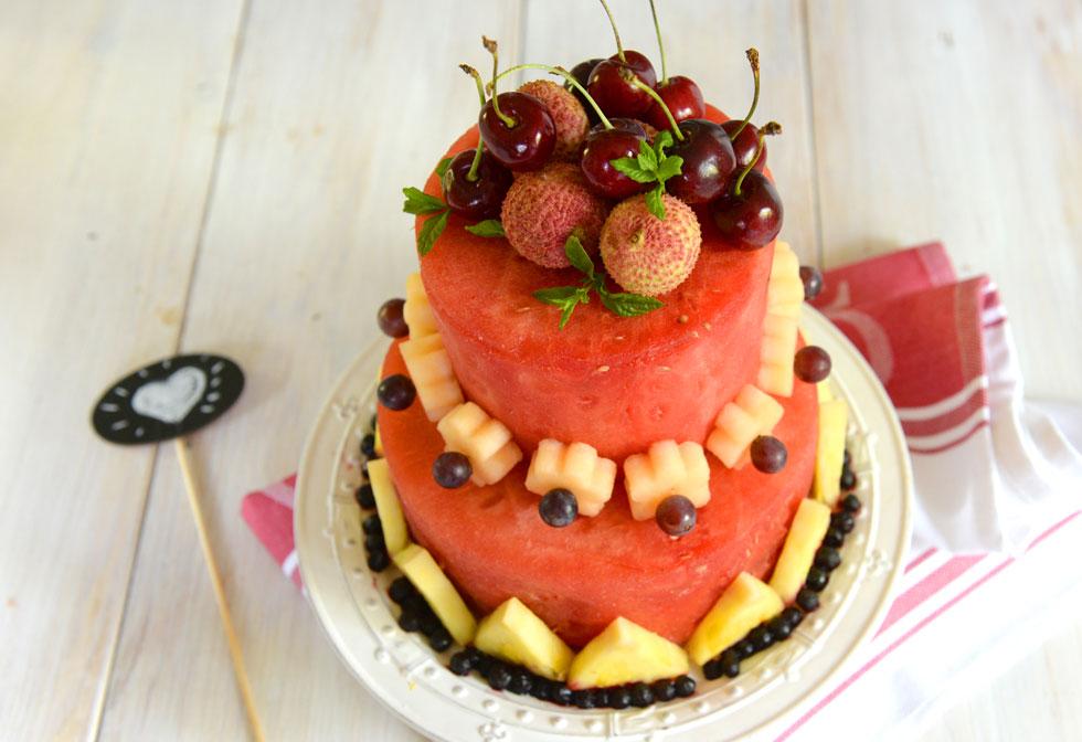 עוגת אבטיח. התרחקו מפירות שמשחירים, כמו בננות או תפוחים (צילום: אפרת מוסקוביץ)