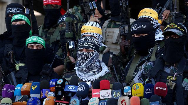 Боевики ХАМАСа призывают к войне с Израилем. Фото: АР