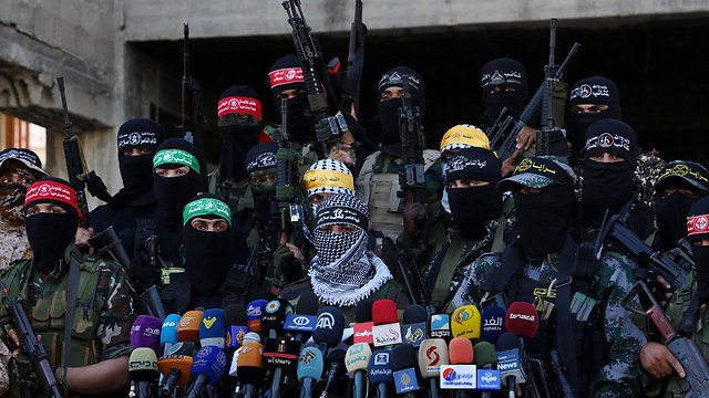 Gaza militant factions hold press conference (Photo: AP)
