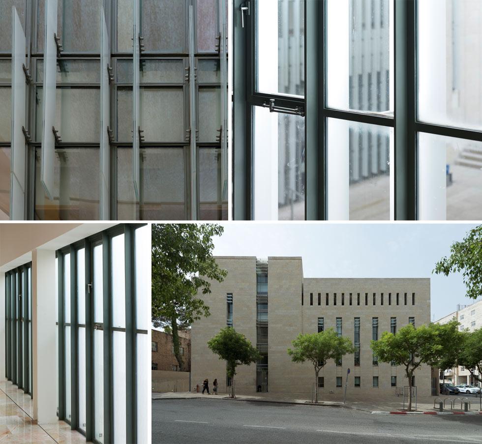 """מבט אל חזית הצד של הבית, שבה תוכננו מסכי זכוכית ממוסגרים במסגרות פלדה. """"אני תמיד שואלת את עצמי מה עושה האור הטבעי לחומרים"""", אומרת כרמי-מלמד, """"זה סיפור שחוזר בכל בניין. האור הוא החומר הכי זמין בארץ"""" (צילום: גדעון לוין)"""