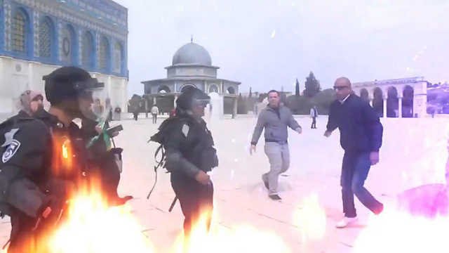 Still from Hamas video aimed at inciting protests