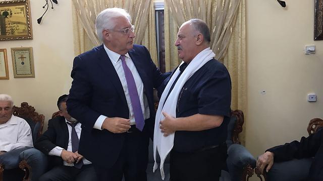 US Ambassador to Israel David Friedman (R) with Shachiv Shnaan