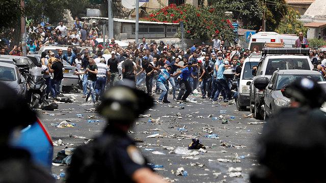 העימותים היום בירושלים (צילום: רויטרס) (צילום: רויטרס)