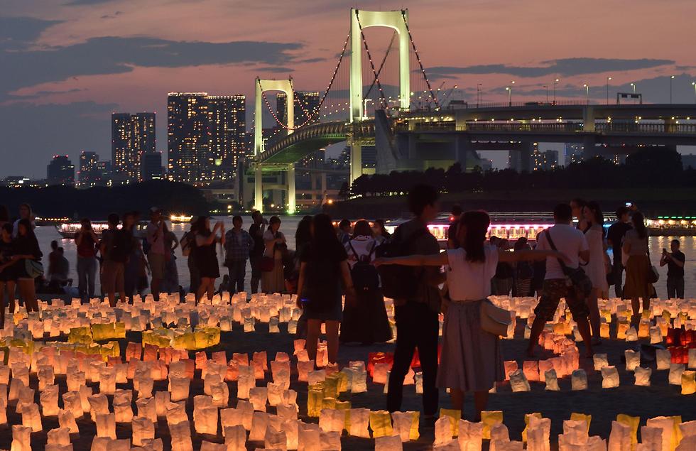 פסטיבל פנסי נייר בפארק בטוקיו, יפן (צילום: AFP)