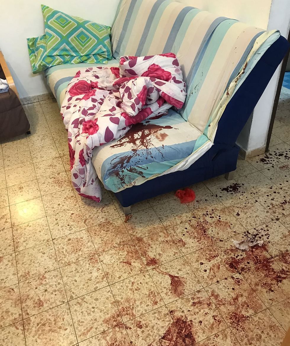 The scene of the attack (Photo: IDF Spokesman's Office)