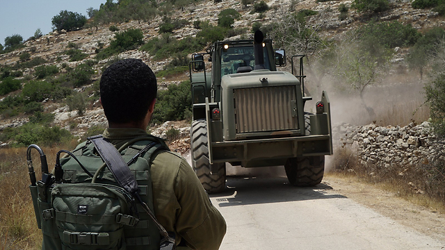 IDF forces operating near Kobar (Photo: IDF Spokesman's Office)