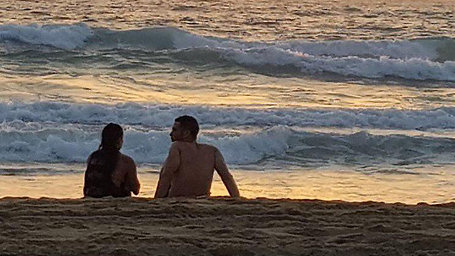 Fryszer Guttman and Amdursky at the beach on Friday (Photo: Instagram)
