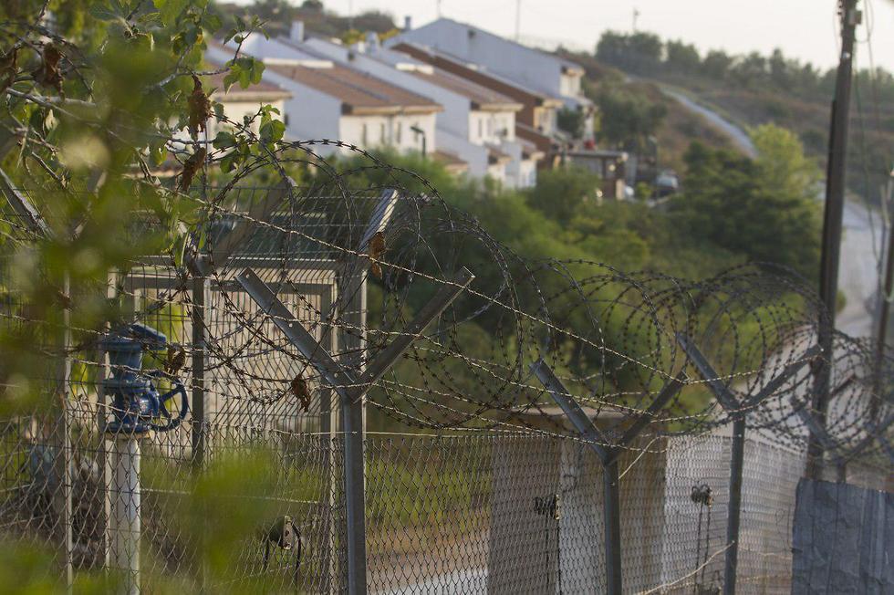 The Halamish security fence (Photo: Ido Erez)