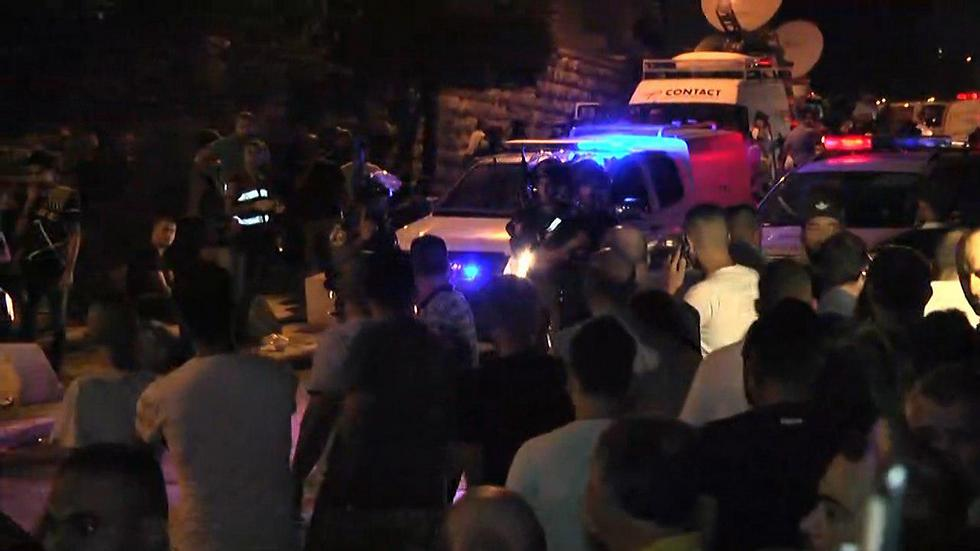 Clashes at the Lions' Gate on Saturday evening (Photo: Gil Yohanan)