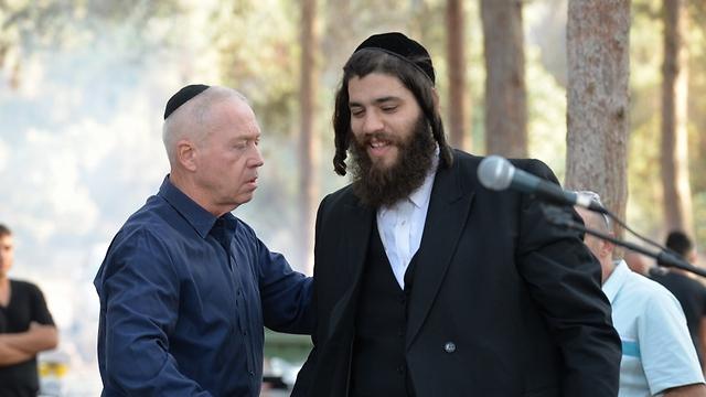 ראש עיריית אלעד ויואב גלנט (צילום: אלי סגל) (צילום: אלי סגל)