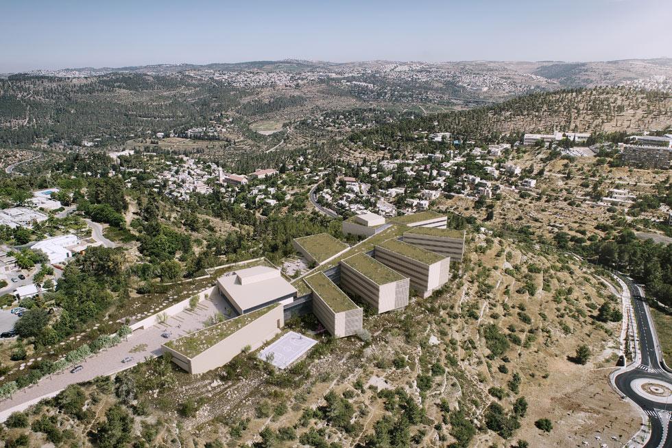 ההצעה של המשרד הירושלמי קולקר-קולקר-אפשטיין, מתכנני עיר הבה''דים, שלא זכתה אף היא (הדמיה: 3dvision)